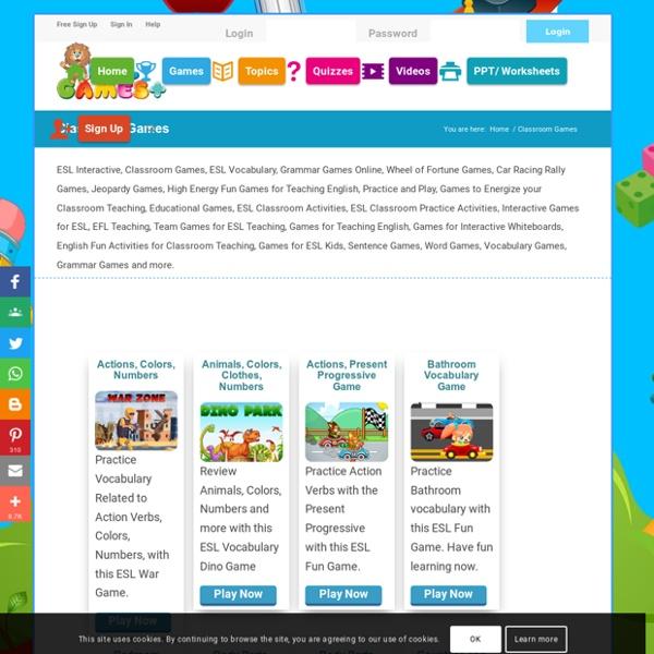 Games, Activities for ESL Classroom Teaching
