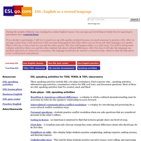 esl speaking activities for adults pdf