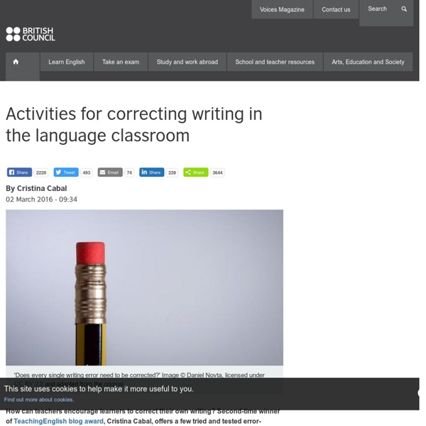 Activities for correcting writing in the language classroom