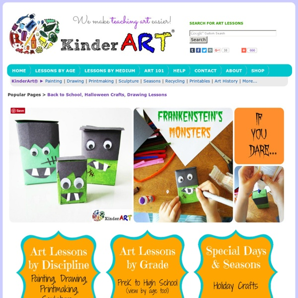 KinderArt - Free Art Lessons and Lesson Plans, Projects and Art Education Information for Toddlers, Elementary, Middle and Secondary School.