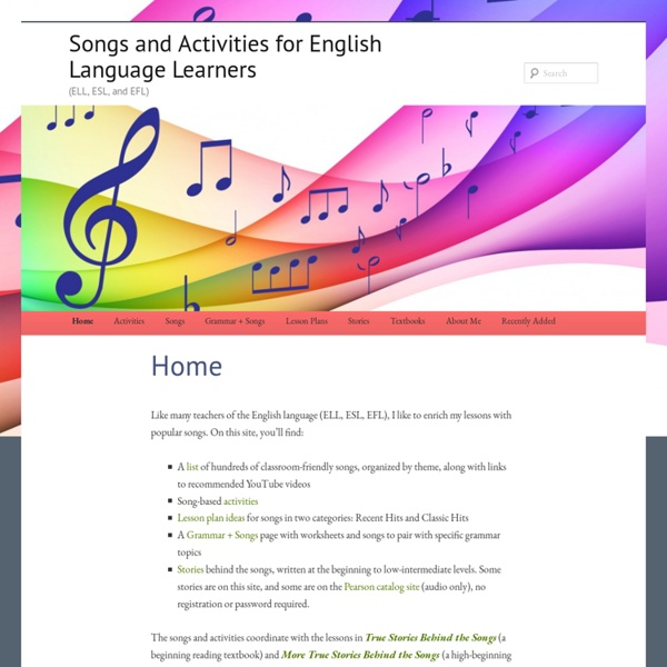 Songs and Activities for English Language Learners