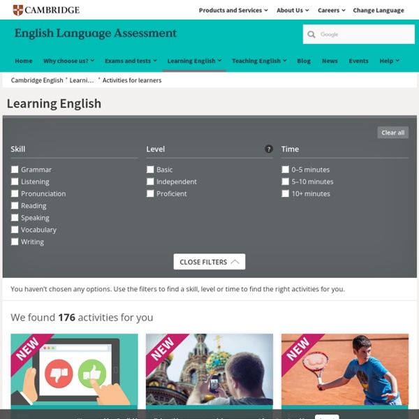 Activities for Learners