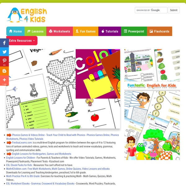 EFL Activities For Kids, ESL Printables, Worksheets, Games, Puzzles, For  Preschool, Primary English Learners Pearltrees