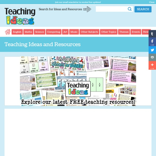 Teaching Ideas - Free lesson ideas, plans, activities and resources for use in the primary classroom.