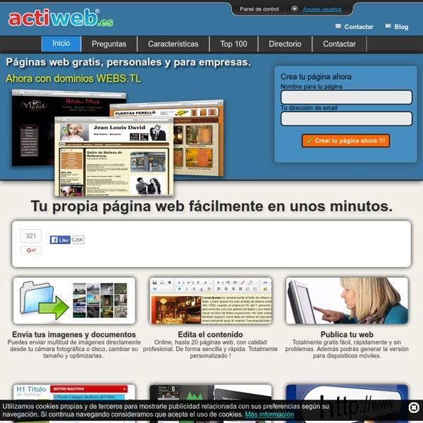 Actiweb crear paginas web gratis | Pearltrees
