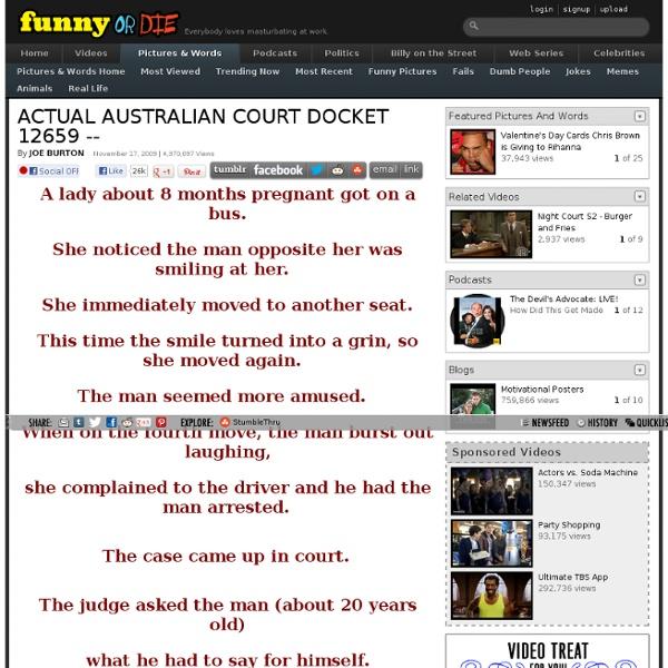 ACTUAL AUSTRALIAN COURT DOCKET 12659