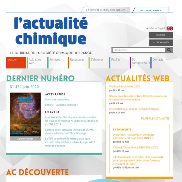 L'Actualité Chimique - journal de la Société Chimique de France