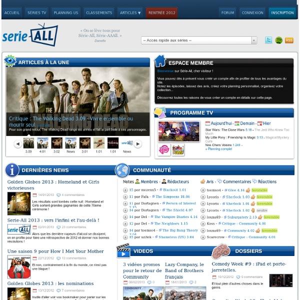 Critique et actualité des séries TV - Webzine communautaire