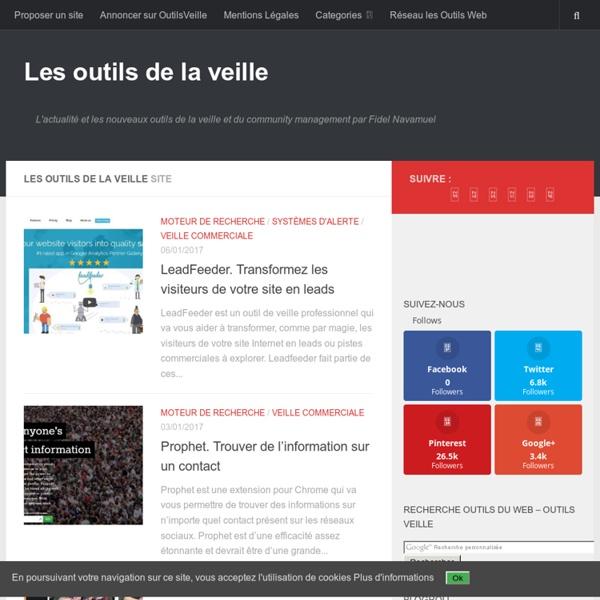 L'actualité et les nouveaux outils de la veille et du community management par Fidel Navamuel