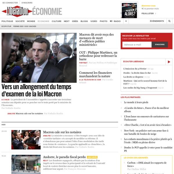 Toute l'actualité économie avec Libération