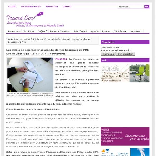 La lettre d'information et d'actualité économique de Bourgogne, Franche-Comté, Sud-Alsace