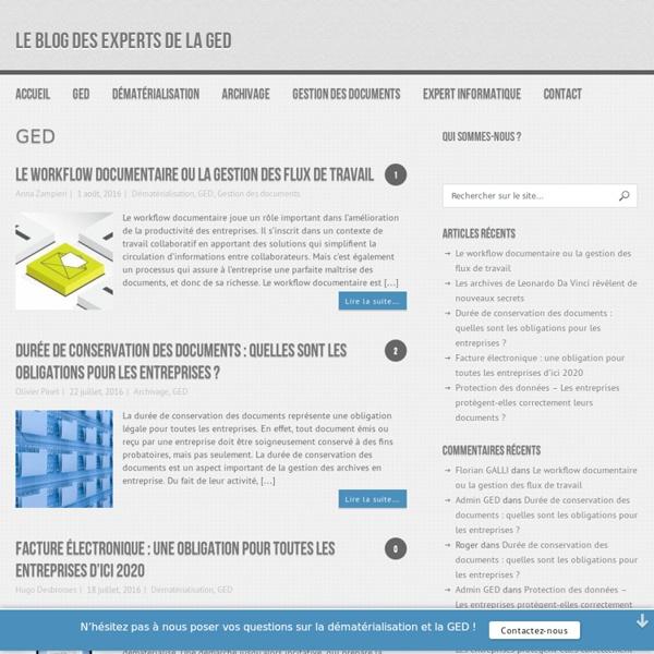 GED : L'actualité de la Gestion électronique de documents