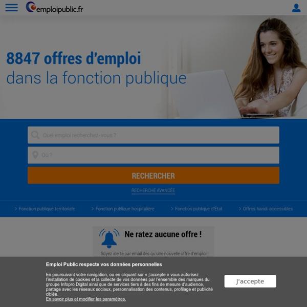 Emploi et concours Fonction Publique, FPE, FPH, FPT – Emploipublic.fr