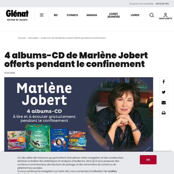 4 albums-CD de Marlène Jobert offerts pendant le confinement