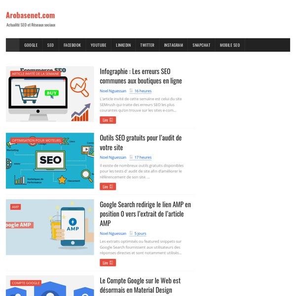 Arobasenet.com : Actualité SEO et réseaux sociaux