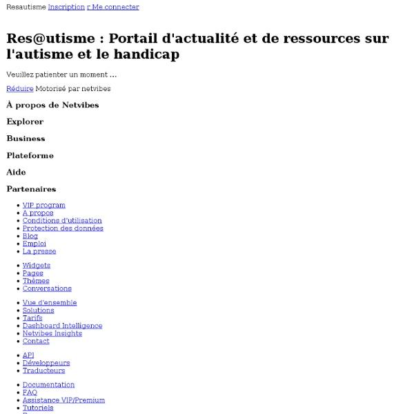 Res@utisme : Portail d'actualité et de ressources sur l'autisme