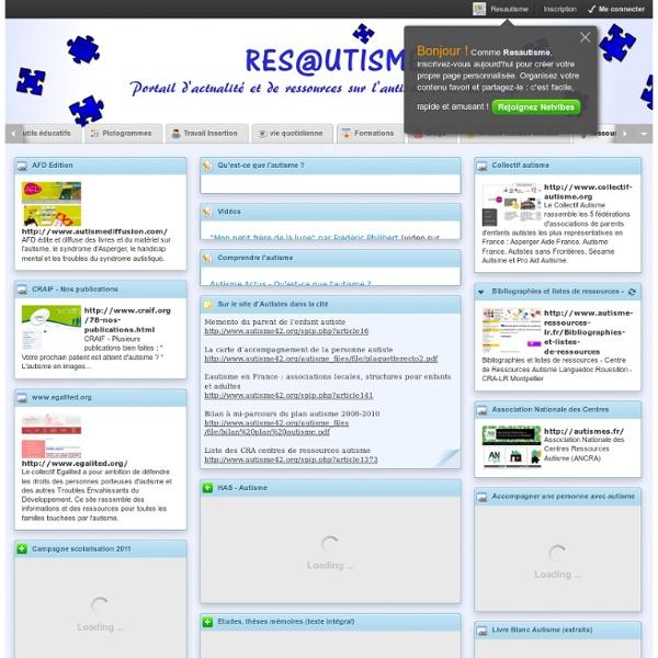 Res@utisme : Portail d'actualité et de ressources sur l'autisme et le handicap