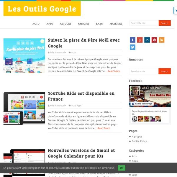 Les Outils Google - L'actualité des outils et services proposés par Google.