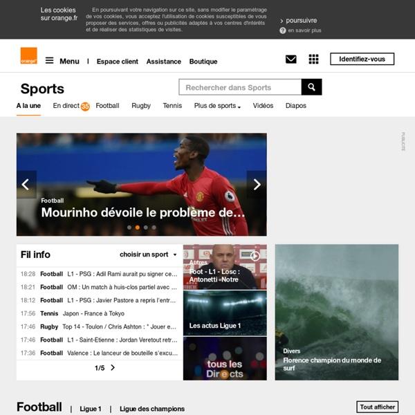 Toute l'actualité sportive sur Orange