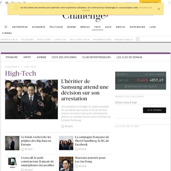 Actualité High tech, Nouvelles technologies, Internet, techno