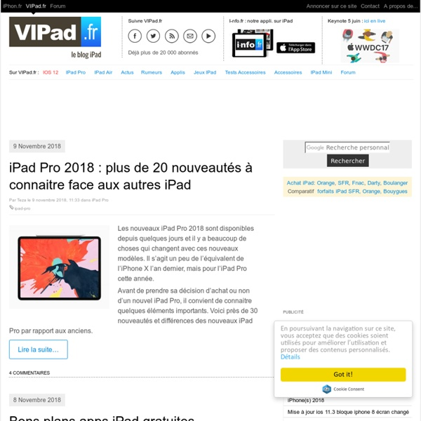 iPad mini, iPad Retina, iPad 2 en France avec VIPad.fr, le blog iPad