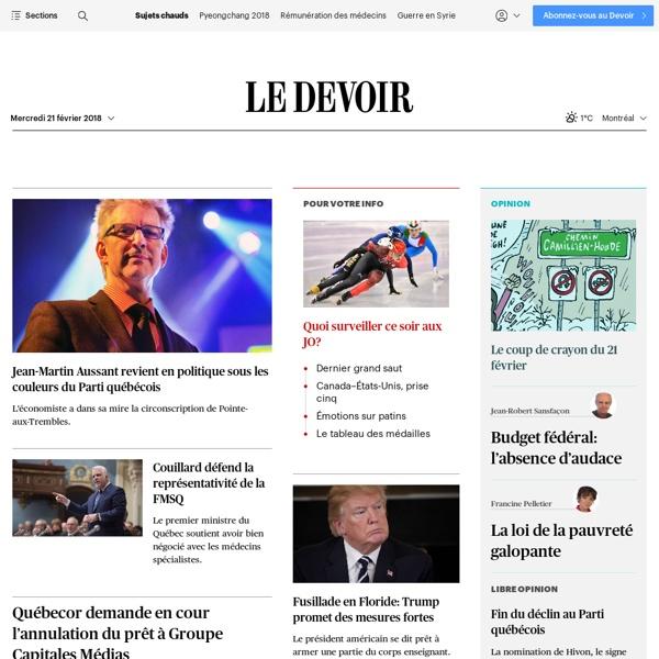Nouvelles, actualités, politique, culture et chroniques