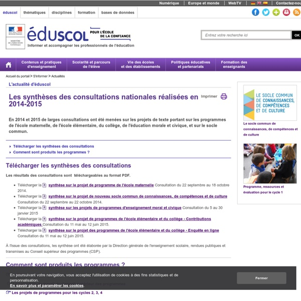 Collège - Consultations 2014-2015