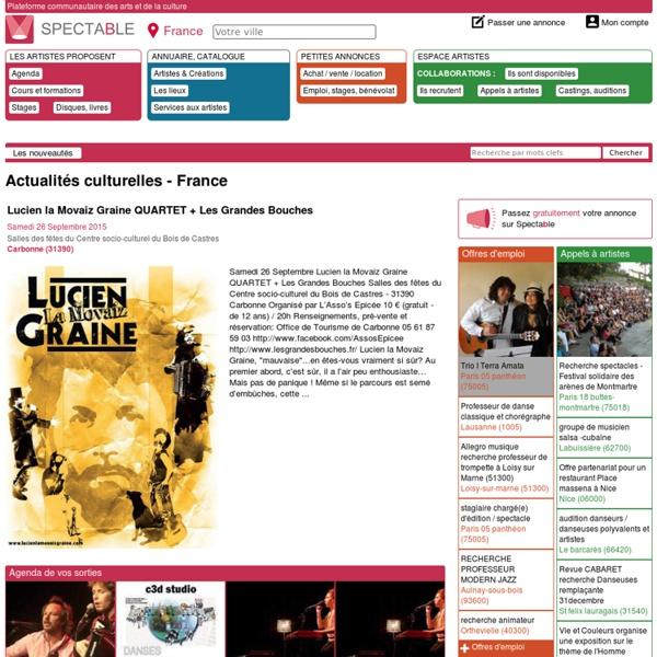 Les nouveautés - France - Spectable.com