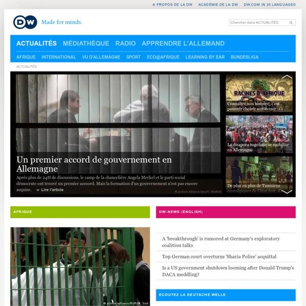 Radio Deutsche Welle : Actualités