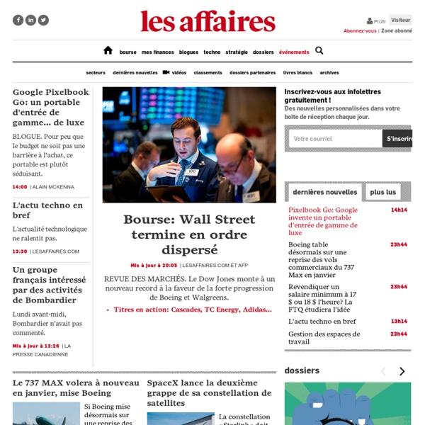Actualités Économiques, Bourse et Finances