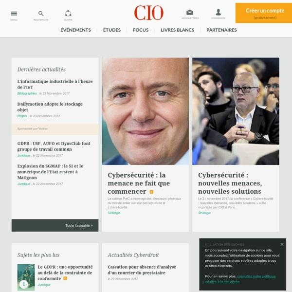 Conseil et veille stratégique en gestion et management des systèmes d'information pour DSI - CIO-Online