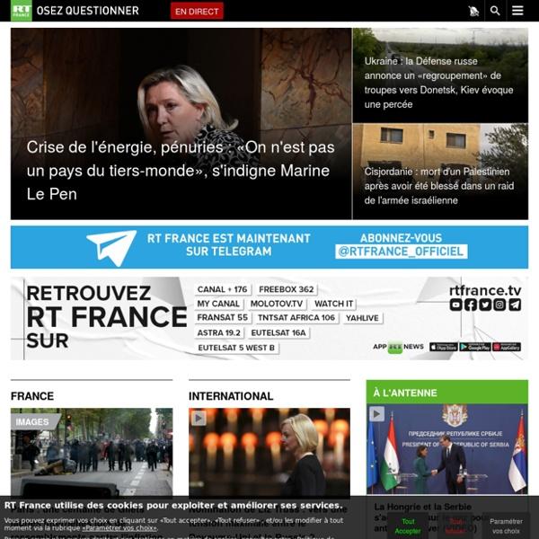 RT en français — Actualités internationales