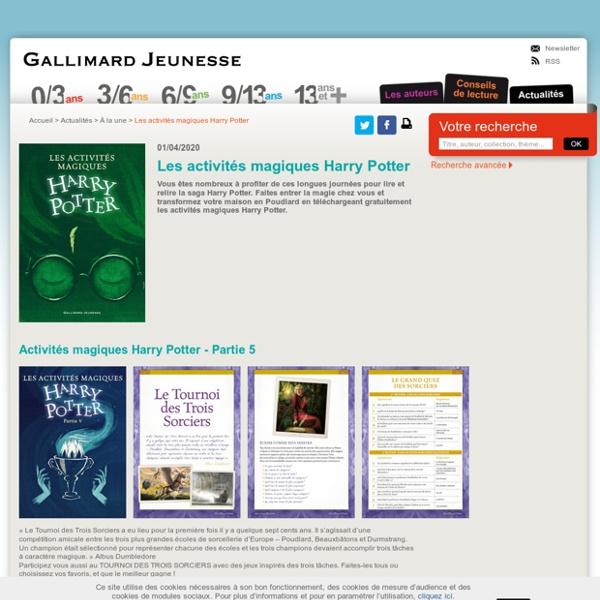 Les activités magiques Harry Potter - À la une - Actualités