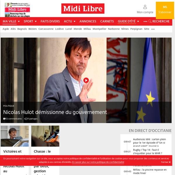 Midi Libre le journal de Montpellier, Nîmes, Rodez, Carcassonne, Perpignan, Mende