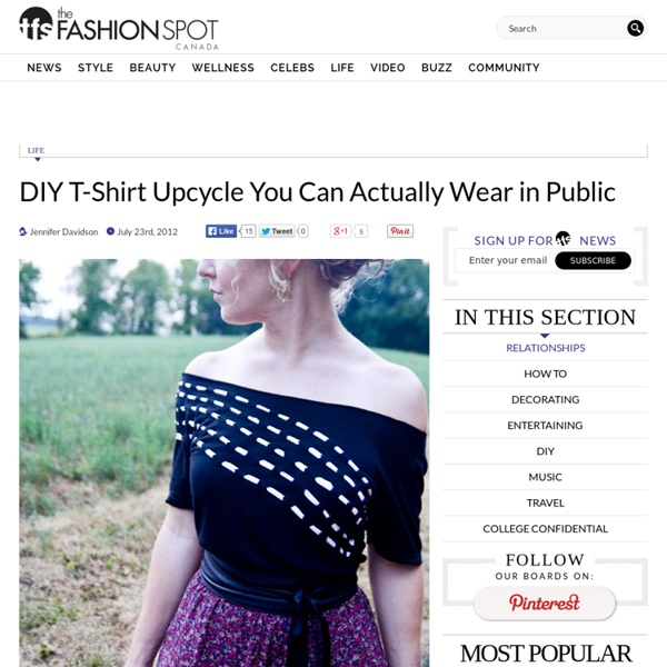 DIY T-Shirt Upcycle You Can Actually Wear in Public