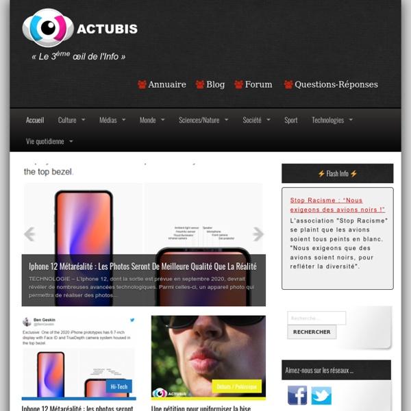 Actubis : l'actualité scoops insolite !