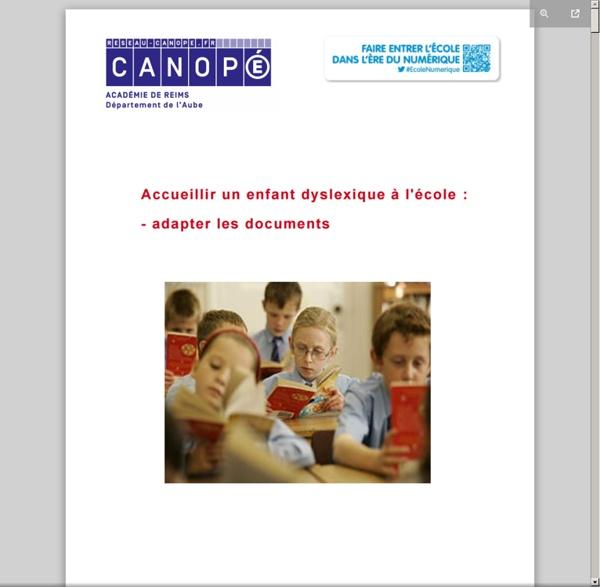 Adaptation des documents pour un élève dyslexique