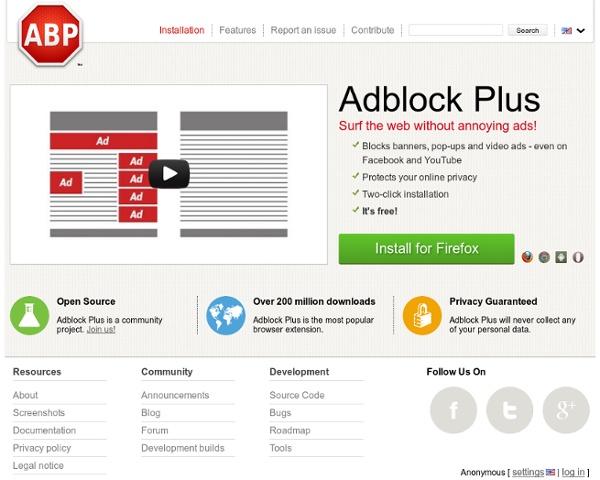 Adblock Plus — for annoyance-free web surfing