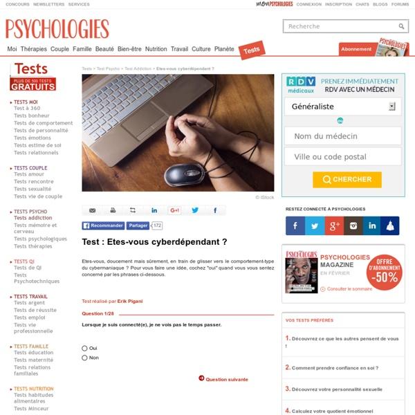 Net addictif : Etes-vous cyberdépendant