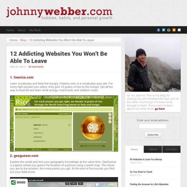 12 Addicting Websites You Won't Be Able To Leave