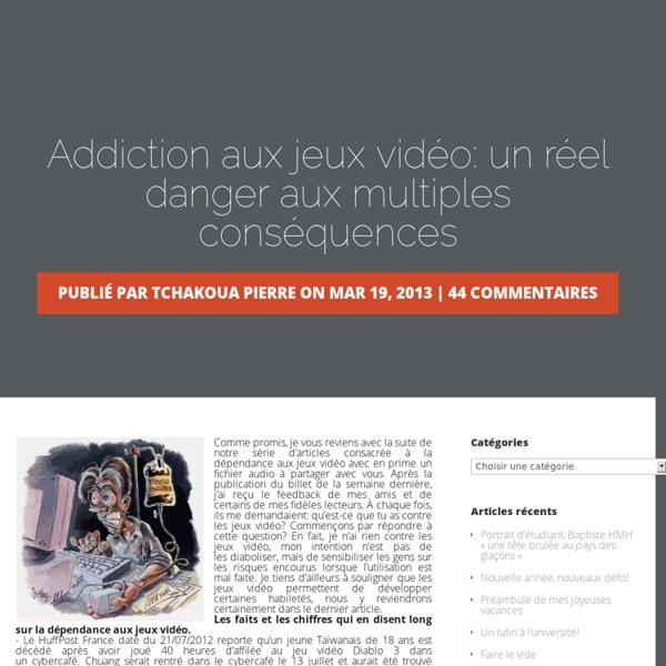 addiction aux jeux vid o un r el danger aux multiples cons quences l 39 uqat mon blogue. Black Bedroom Furniture Sets. Home Design Ideas