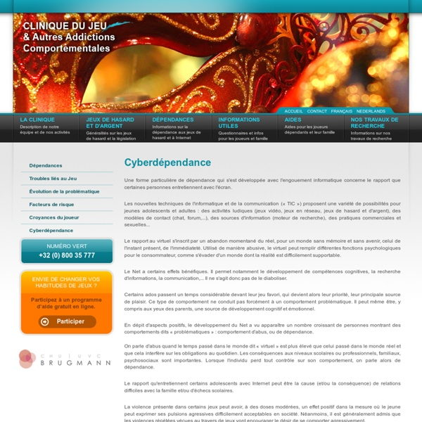 La Clinique du Jeu Pathologique