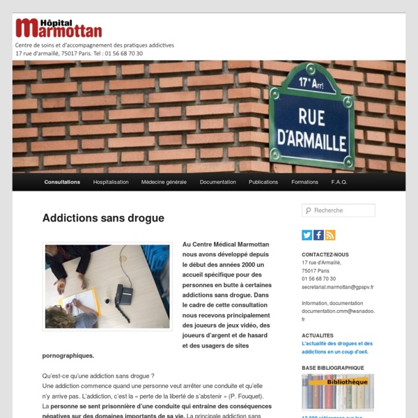 Addictions sans drogue