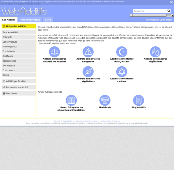 Additifs Alimentaires - Webadditifs