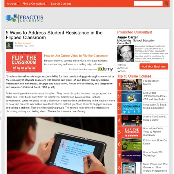 5 Ways to Address Student Resistance in the Flipped Classroom