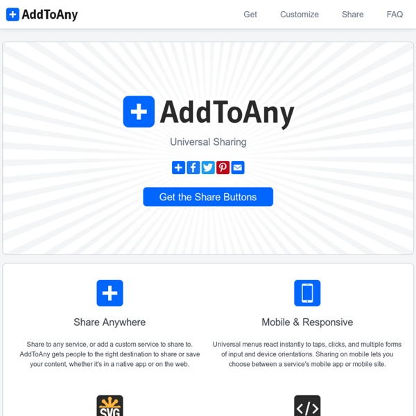 AddToAny - Share Button, Email Button, Subscribe Button