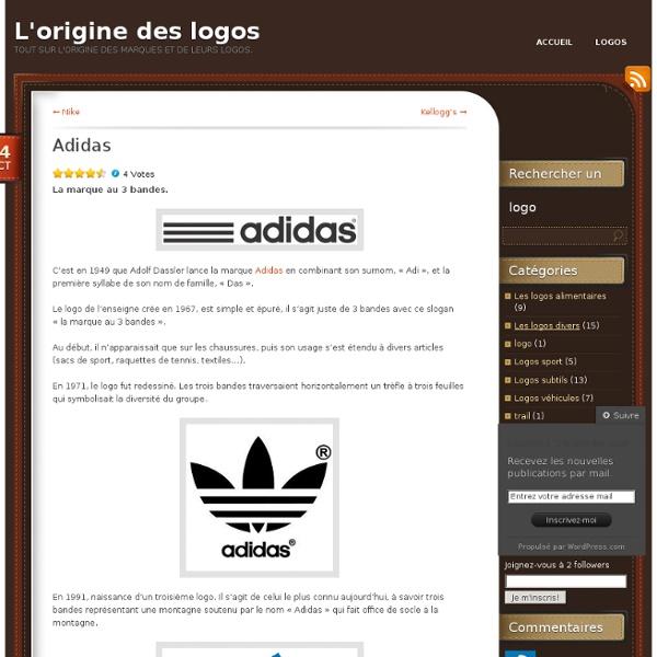 Adidas « L'origine des logos