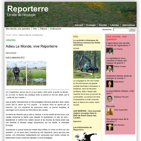 Adieu Le Monde, vive Reporterre