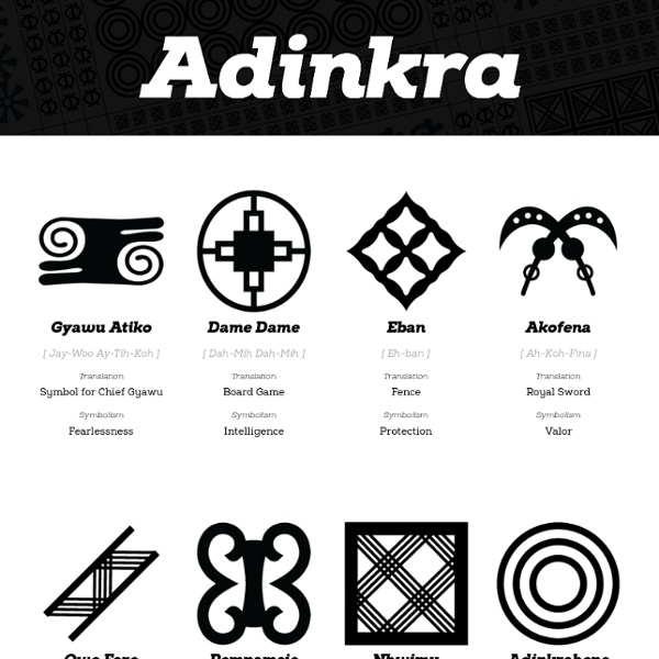 The Adinkra Symbols And Icons Project Pearltrees