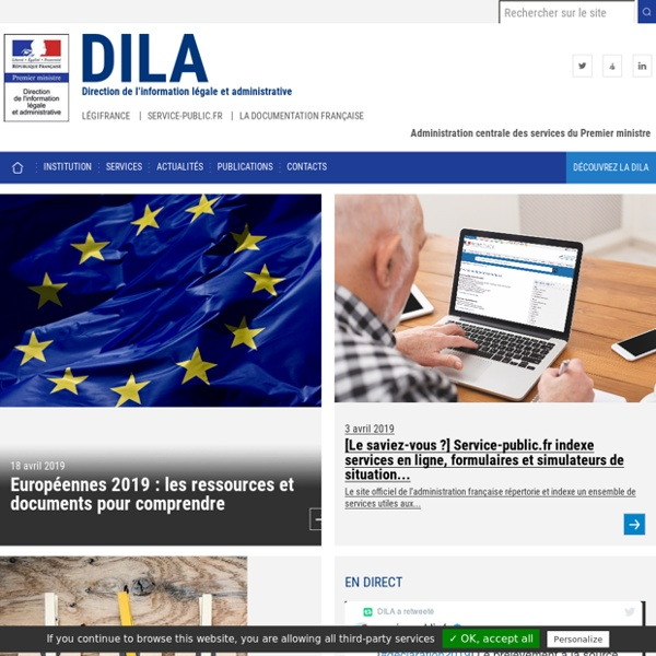 Dila - Direction de l'information légale et administrative : Editer, Imprimer, Diffuser, Informer, Renseigne, Diffusion légale, Information administrative, Edition publique